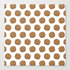 Chocolate Chip Cookies Pattern Canvas Print