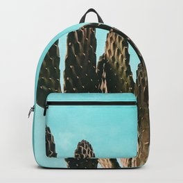 Cactus Photography Print {1 of 3} | Teal Succulent Plant Nature Western Desert Plants  Design Decor Backpack