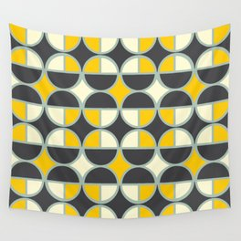 yellow gray  Wall Tapestry