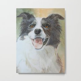 Bubbles, a  Sheep Dog Metal Print
