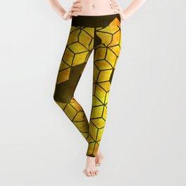 Golden cubes Leggings