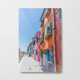 Colorful Burano, Italy Metal Print