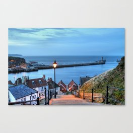 Whitby After Sun Down Canvas Print
