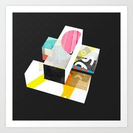 Stacks (cube) Art Print