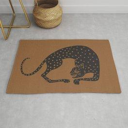 Blockprint Cheetah Rug