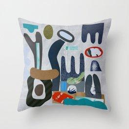 Rock Garden in grey Throw Pillow