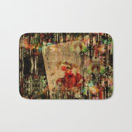 Abstract Vintage Joker card  Digital Art Bath Mat