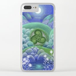 Triskelion Nightly Stillness Clear iPhone Case