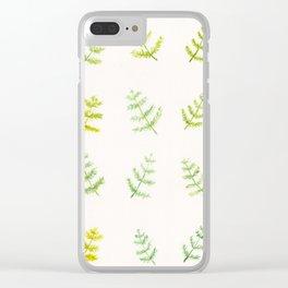 Friendly Ferns Clear iPhone Case