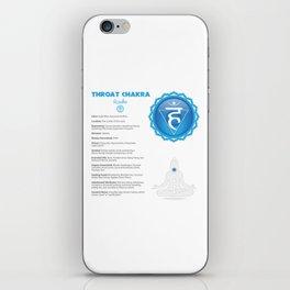 Throat Chakra - Vissudha Chart iPhone Skin