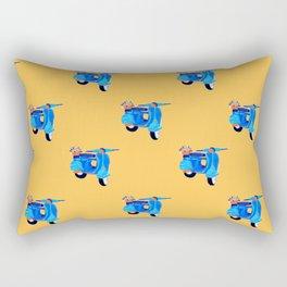 Blue vintage vespa Rectangular Pillow