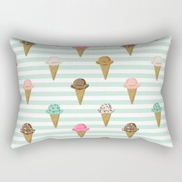 ice cream cones flavors mint stripes food fight apparel and gifts Rectangular Pillow