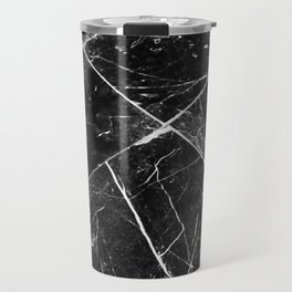 Black Granite Tiles Travel Mug
