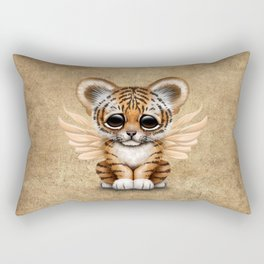 Cute Baby Tiger Cub with Fairy Wings  Rectangular Pillow