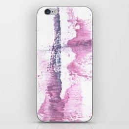 Lavender blush vague watercolor iPhone Skin