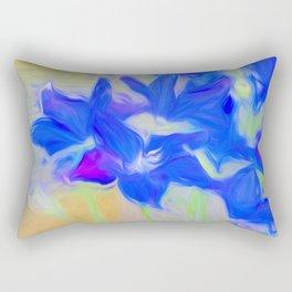 Blue Flower Bouquet Rectangular Pillow