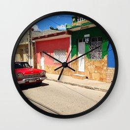 Cars in Cuba Wall Clock