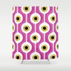 Eye Pod Pink Shower Curtain