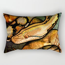 Reticulated Python Rectangular Pillow