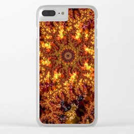 Lava Fractal Clear iPhone Case