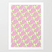 margarita pink Art Print