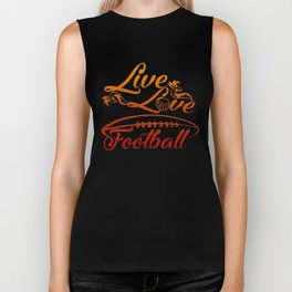 LIVE - LOVE - FOOTBALL Biker Tank