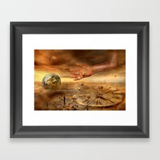 Coincidence or fate Framed Art Print