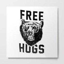 Free hugs Bear Metal Print