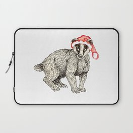 Christmas Honey Badger Laptop Sleeve