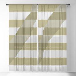 Striped Shadow 1 Sheer Curtain