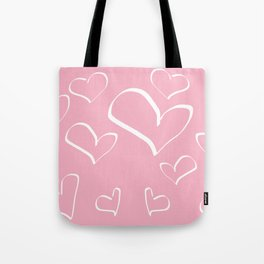 Doodle and hearts Tote Bag