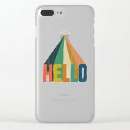 Hello I come in peace Clear iPhone Case