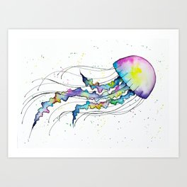 Pastel Jellyfish Art Print