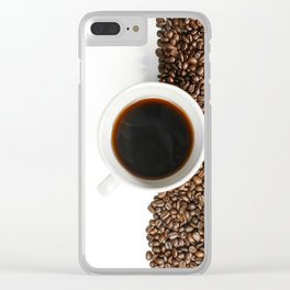 Coffee Mug and Beans Clear iPhone Case