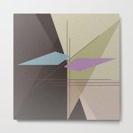 Abstract pattern . Brown -beige . Metal Print