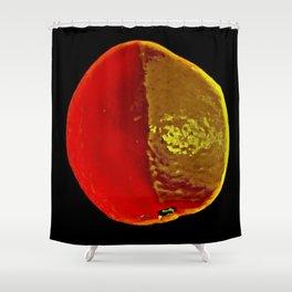 The Legendary Orange Shower Curtain