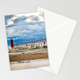 """South Haven Lighthouse"" - South Haven, MI Stationery Cards"