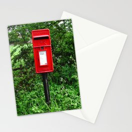 Red UK Letterbox Painting Stationery Cards