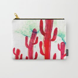 Red desert cactus Carry-All Pouch