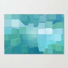 Blue and Green 3D Canvas Print
