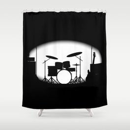 Half Tone Rock Band Poster Shower Curtain