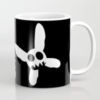 pixies Mugs featuring Necrotic Pixies Jolly Rodger by Jesse G.