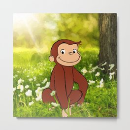 Curious George Metal Print