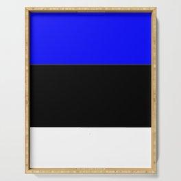 Flag of estonia 2-estonian,baltic,tallinn,tartu,eesti,balti,slav,viking,baltico,parnu Serving Tray