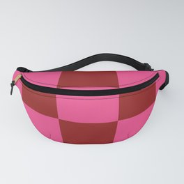 Red and Pink Checker Leviathan Fanny Pack