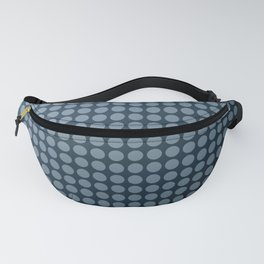 Black and blue polka dot pattern . Fanny Pack