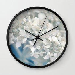Beautiful White Hydrangea 276 Wall Clock