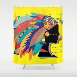 Native Indian Shower Curtain
