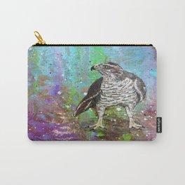 Hawk in Purple Carry-All Pouch