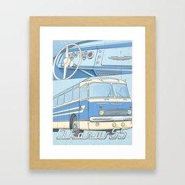 Ikarus 55 blue Framed Art Print